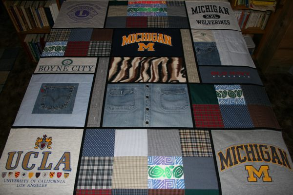 Combining T Shirts And Sweatshirts In A Memorial Quilt